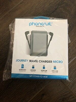 PhoneSuit - JOURNEY 3,500 mAh Portable Charger for Most Lightning-Equipped Ap...