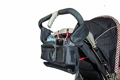 Stroller Organizer Fits all Strollers Zip off Pouch Removable Shoulder Strap