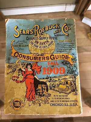 Sears Roebuck Catalog 1909 A 1979 Reproduction Very Used Ventura Books Chicago