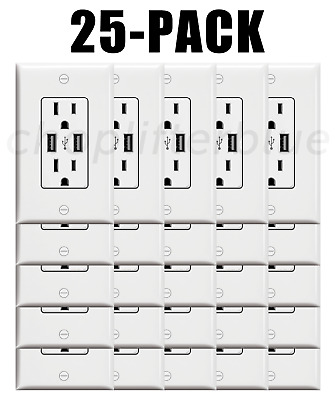 Electrical Outlet Stickers 25-Pack USB Prank Fake Joke Funny Custom HQ Sticker