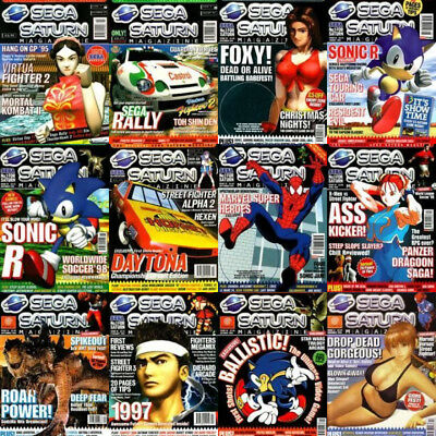 SEGA SATURN MAGAZINE - All 37 Issues Complete Collection on PDF INC COVER CDs