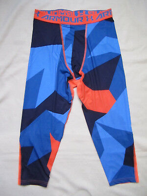 Under Armour Printed 3/4 tights sz XL base layer compression basketball nwt