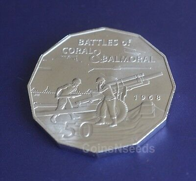 2018 , 50 Cent Coin 50th Anniversary of Coral & Balmoral Battle Australian 50c