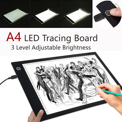 A4 LED Artcraft Tracing Light Pad Box Drawing Board Stencil Diamond Painting AU