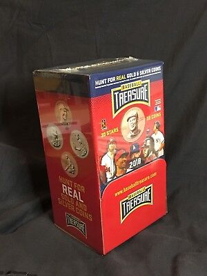 "2018  BASEBALL TREASURE   Box   Case   Copper  Coin  36  Packs  ""SEALED"""