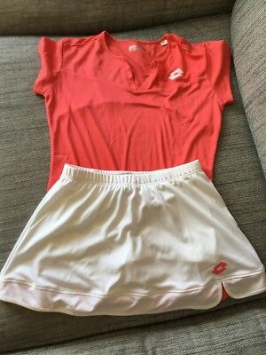 Lotto Girls Tennis Outfit Suit 11-13 Year Old