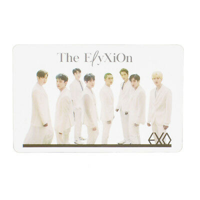 1Pc Kpop EXO PVC Transparent Photo Cards Fans Love Bookmark Collections Gifts