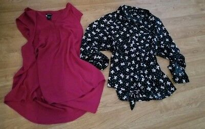 Lot Of Two Torrid Tops Plus Size 2 2X 18 20 Bows Blouse