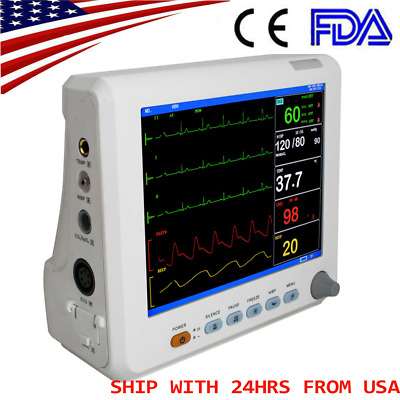 Portable Medical Patient Monitor 6-parameter ICU CCU Vital Sign Cardiac Machine