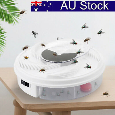 AU! Electric Fly Trap Device with Trapping Food -White USB Cable Insect Killer