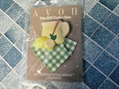 Vintage Avon The Gift Collection Fun Picnic Lemonade Magnet New In Package