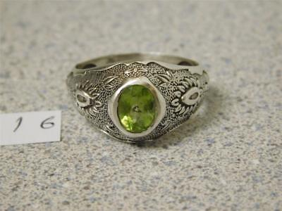 Beautiful Costume Hand Made Carved Cut Design Men's Silver Ring With Zebarjad