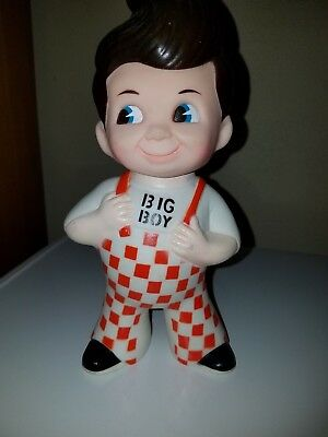 Vintage  BIG BOY Advertising Toy Coin Bank~Vinyl Rubber