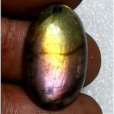 16.30 Ct 100% Natural Purple Flashing Labradorite Oval Cabochon Lose Gemstone
