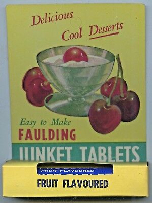 Unopened New Old Faulding Junket Tablets Bottle Packaging Good Condition L66.