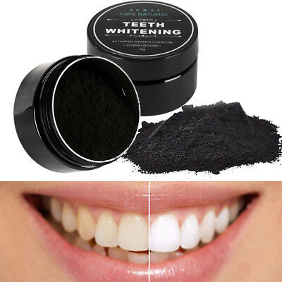 New Teeth Whitening Powder Bamboo Activated Organic Charcoal Natural White Oral