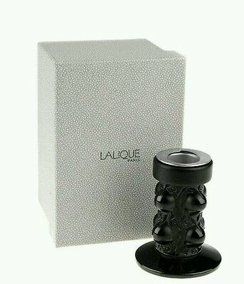 RARE BLACK EDITION Lalique Thorns Epines Candlestick Candleholder. Retail $635