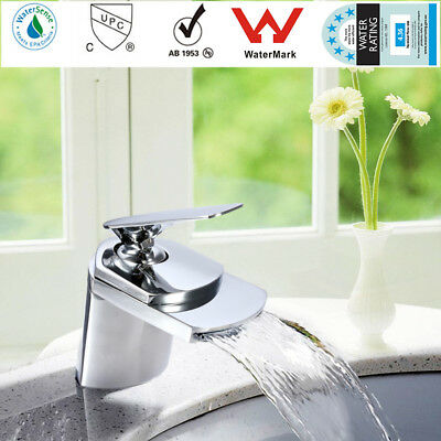 Water Faucet Waterfall Mixer Tap Brass Chrome Plated Kitchen Bathroom Sink Basin