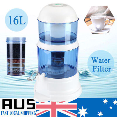 8 Stage Water Filter Bench Top Ceramic Carbon Mineral Dispenser Purifier System