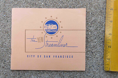 Original c 1936 The New Streamliner City of San Francisco Booklet Railroad