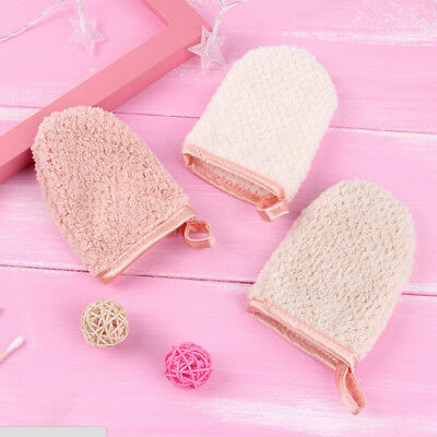 reusable facial towel makeup remove glove portable cleansing remover tool NEW