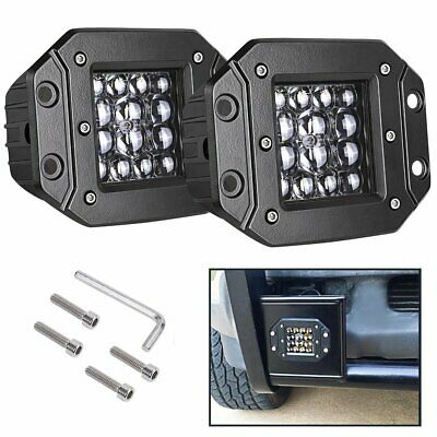 2x 5 inch 160W CREE LED Work Light Pods Flush Mount Combo Beam Driving Lamp
