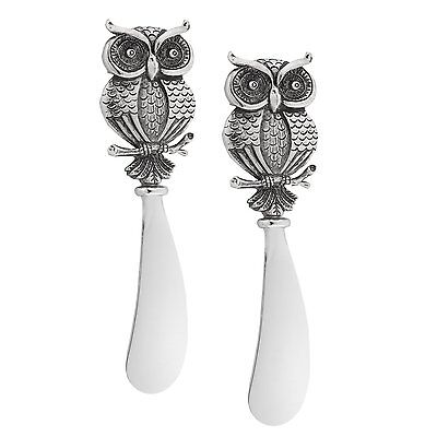 Supreme Owl Collection Cheese Spreaders Set - Zinc Alloy Handle with Gift Pack