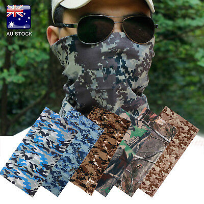 AU-STOCK Unisex Outdoor Cycling Bike Camo Tube Scarf Bandanas Face Mask HeadNeck