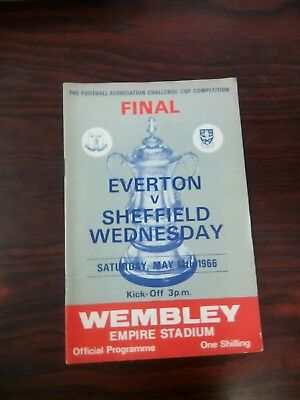 Fa cup final programme Everton v Sheff Wed 1966