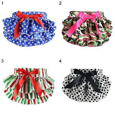 LX_ EG_ HK- Infant Baby Girl Bowknot Dot Bloomers Layers Diaper Cover Shorts S