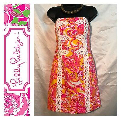 5f68a3144946 NWT LILLY PULITZER Tansy Strapless Dress-Sunshine Yellow Sea And Be ...