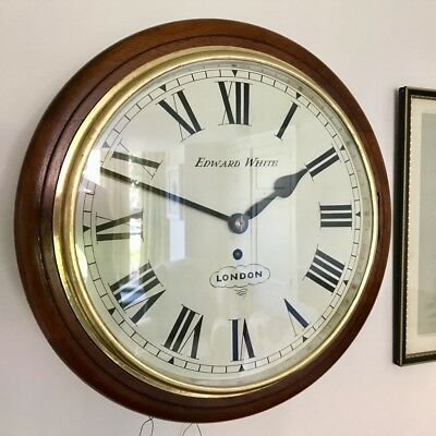 Antique 8 day fusee dial wall clock by Edward White of London