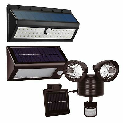 Solar Powered Motion Sensor Outdoor Garden Wall Shed Patio Security Light Lamp