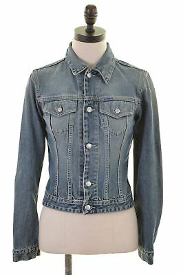 b50285834 DIESEL WOMENS DENIM Jacket Size 8 Small Blue Cotton