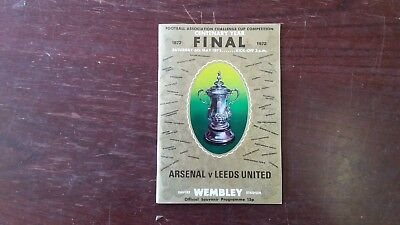 F A Cup final 1972  programme with ticket stub