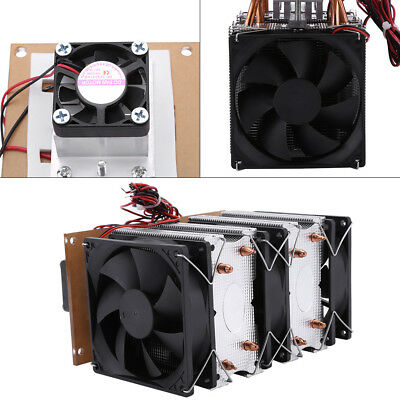 144W Dual-core Semiconductor Refrigeration Thermoelectric Peltier Air Cooling