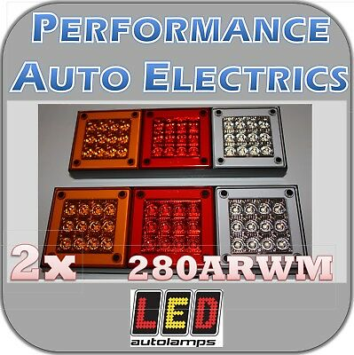 2x LED Autolamps 280ARWM Rear Combination Light - Stop Tail Indicator Reverse
