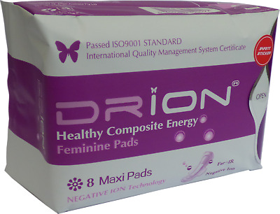 Drion Negative Ion Sanitary Pads ~ 4 x Maxi Pads (Past Best Before Date)