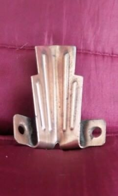 x12 pairs art deco vintage copperised stair clips, original unrestored