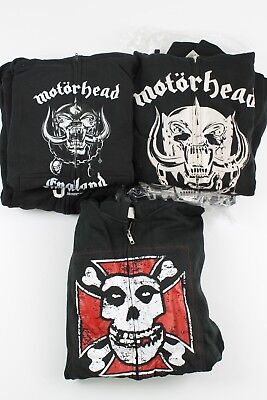 Wholesale Lot of New Men's Rock and Roll Hoodies Motorhead Misfits 5 Pieces