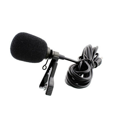 External Clip-on Lapel Tie Lavalier Microphone 3.5mm Jack For iPhone PC Laptop*