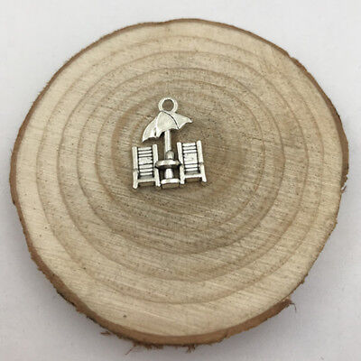 5pcs Beach Chairs Charm Tibetan Silver Tone Pendant  Charms Pendants 15x20mm