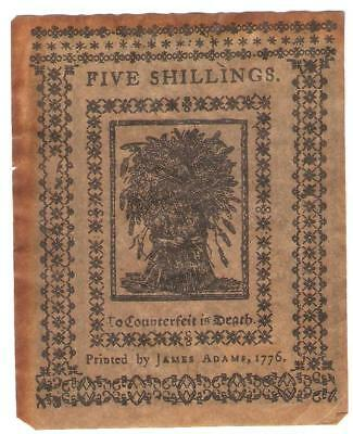 5 Shillings Colonial Currencynewcastle, De-Souvenir-No Red Ink