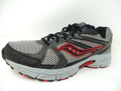 e0ced1042ed8 SAUCONY MENS GRID Terrain Running Shoes Black Grey Red (13T1 ...