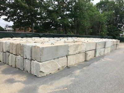 used interlocking concrete blocks 2x2x6 (sold individually) approx. quantity 300