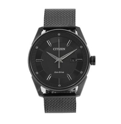 Citizen Men's Drive from Eco-Drive CTO Blackout Stainless Steel Watch BM6988-57E