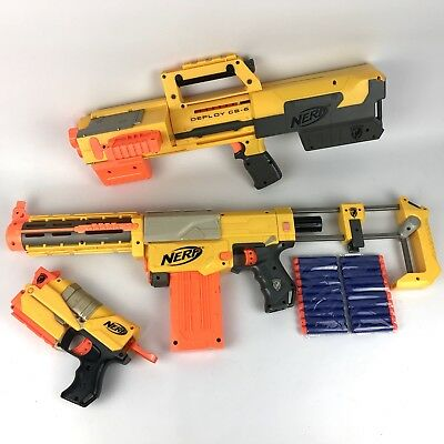 NERF GUN BUNDLE-  RECON CS6 + DEPLOY CS6 + EX3 Guns + Accessories + New Ammo VGC