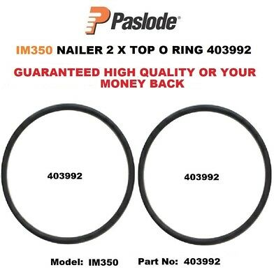 PASLODE IM350 TWO 2 x REPLACEMENT TOP O RINGS 403992