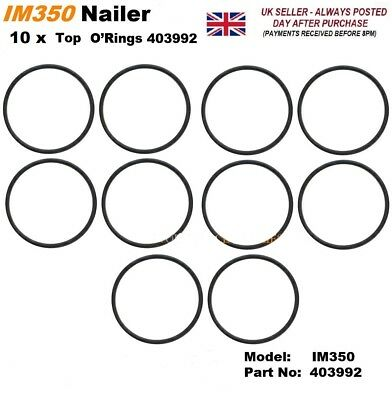 PASLODE 10 x REPLACEMENT IM350 TOP O RING ORING 403992 for Paslode Nailer IM350
