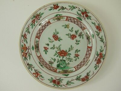 Chinese export famille verte plate - Kangxi - early C18th